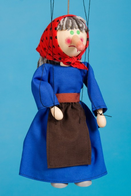 Witch - wooden puppet