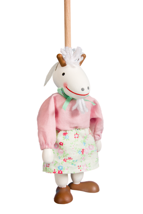 Young goat pink - puppet without thread