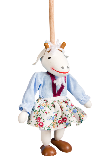 Young goat blue - puppet without thread