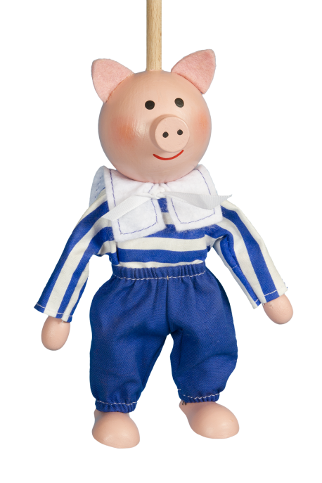 Piggy - puppet without thread