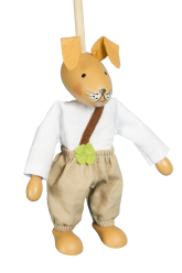 Young hare - puppet without thread