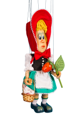 Little Red Riding Hood - wooden marionette