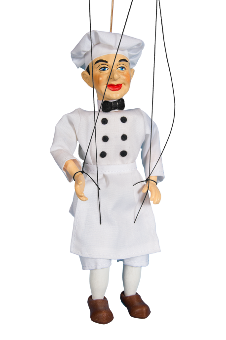 Cook - plaster puppet