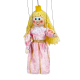 Pink princess - wooden puppet