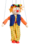 Clown - wooden puppet
