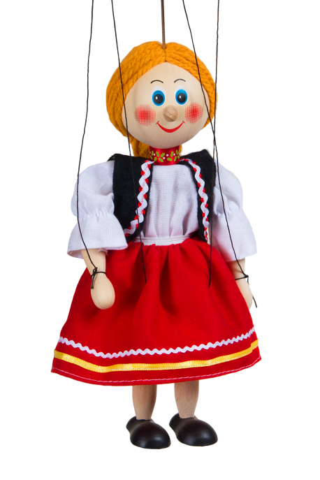 Young lady - wooden puppet
