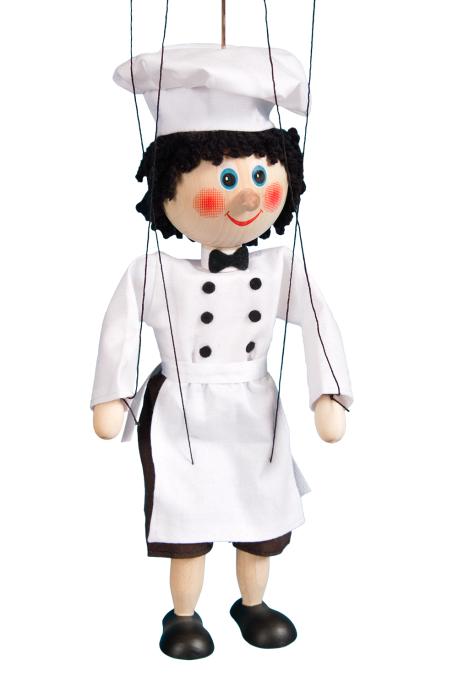 Cook - wooden puppet