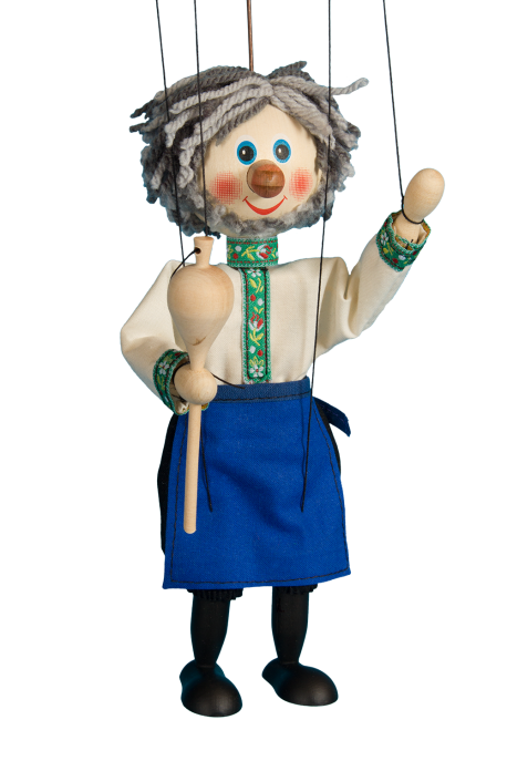 Wine grower - wooden puppet