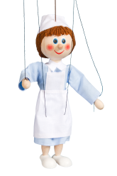 Nurse - wooden puppet