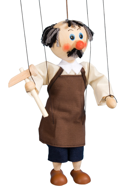Shoemaker - wooden puppet