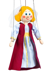 Medieval princess - wooden puppet