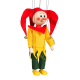 Medieval buffoon - wooden puppet