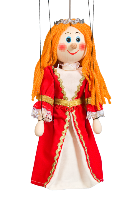 Noblewoman red - wooden puppet