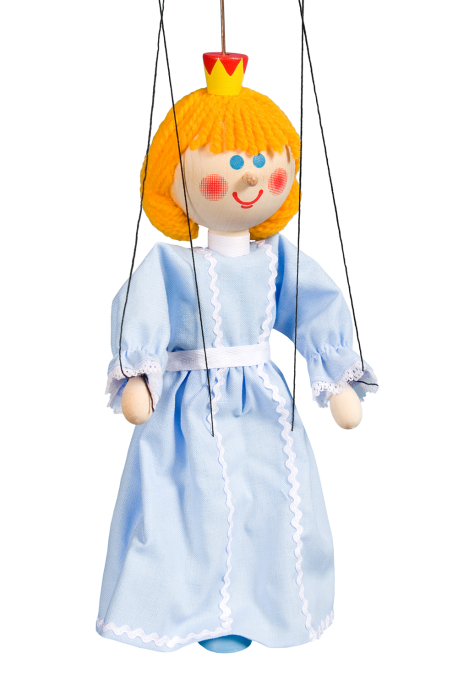 Princess - wooden puppet