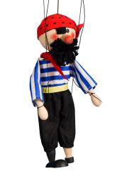 Pirate - wooden puppet