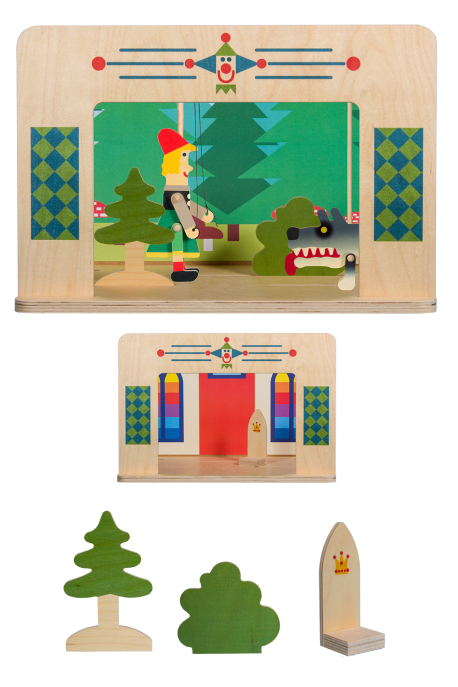 Puppet theater for 15 cm size puppets