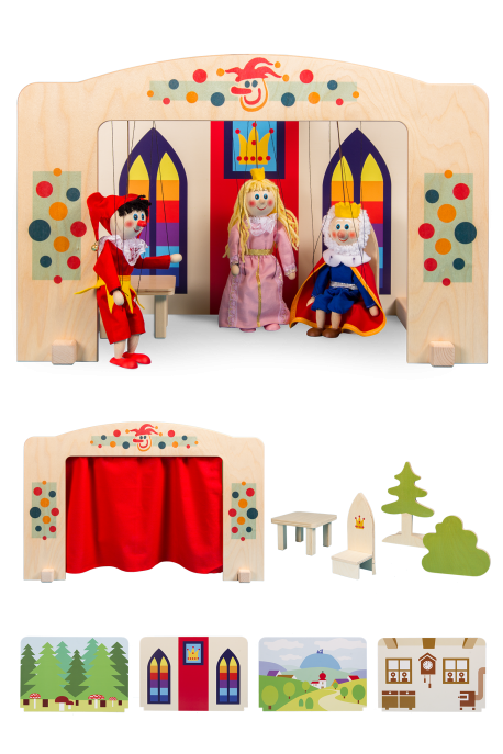 Puppet theater - middle - for 20 cm size puppets
