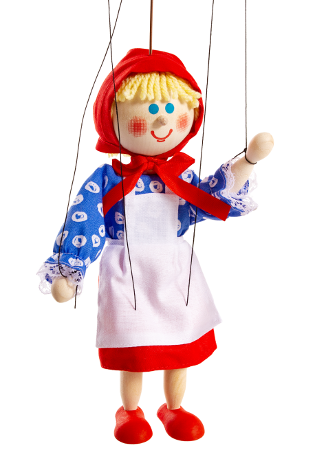 Little Red Riding Hood - wooden puppet
