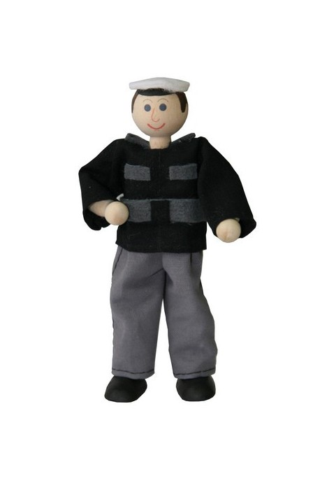 Policeman Tomas - wooden toy