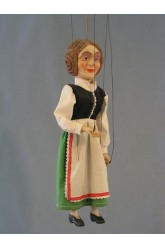 Peasant woman - plaster marionette