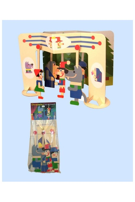 Puppet theater - mini with 5 puppets